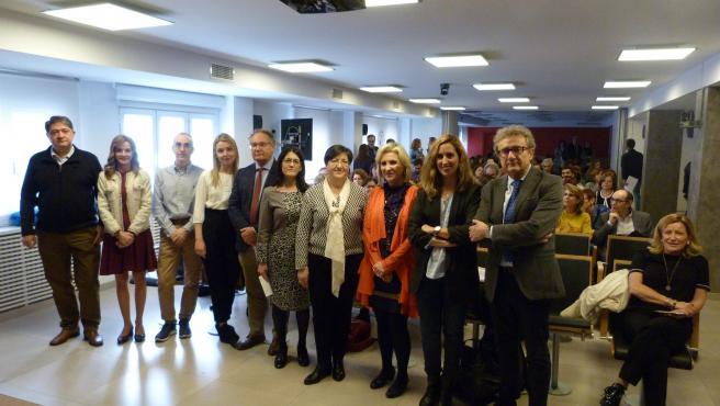 La consejera de Sanidad participa en una jornada sobre diagnóstico de la hepatitis C organizada por el Colegio de Médicos de Valladolid.