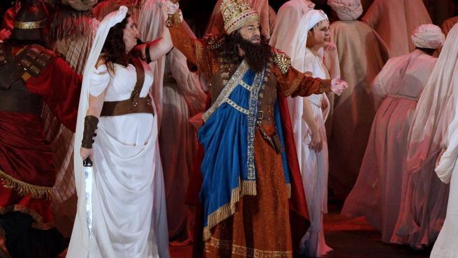 Plácido Domingo ensaya en València la ópera 'Nabucco'