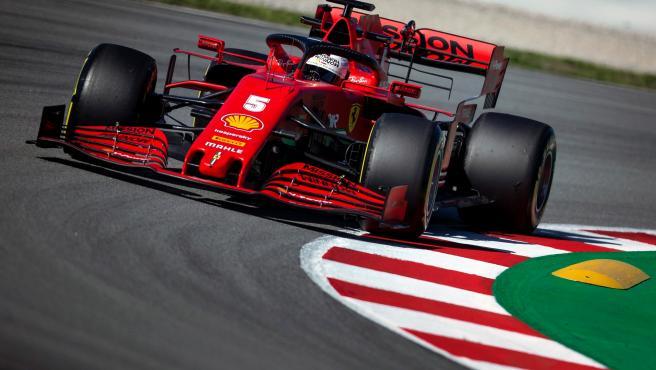 Sebastian Vettel, durante la pretemporada 2020 de Fórmula 1.