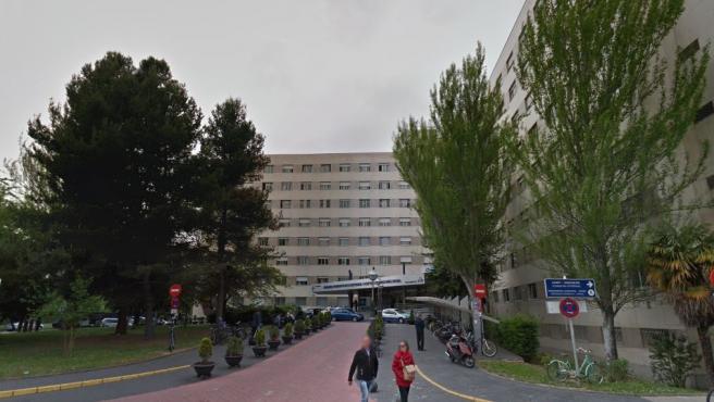 Fachada del hospital universitario de Álava, en Vitoria.