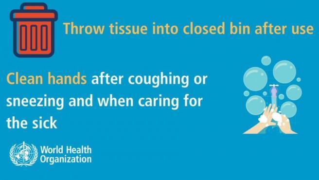 Imagen de las recomendaciones de la OMS contra el coronavirus.