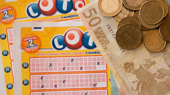 Imagen de un boleto de lotería.