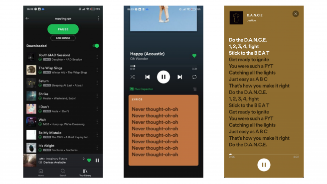 Mientras escuchas una canción, accede a 'Behind The Lyrics' para ver la letra.