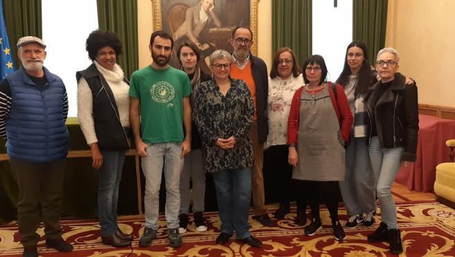 Recepción en el Ayuntamiento de Gijón a la XVII Delegación Asturiana de Derechos Humanos en Colombia