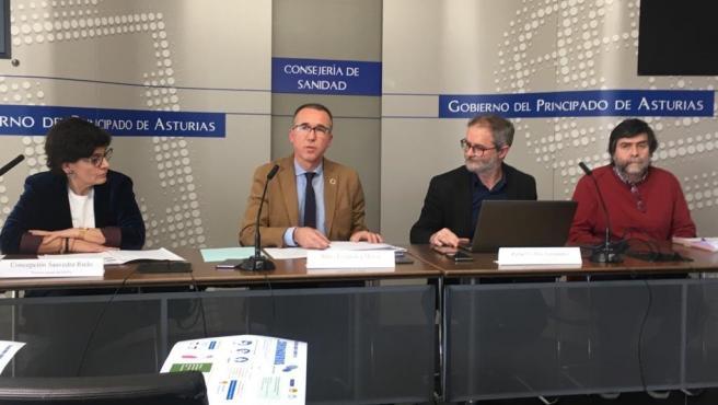 Rueda de prensa de responsables de la Consejería de Salud del Principado sobre el protocolo ante el coronavirus