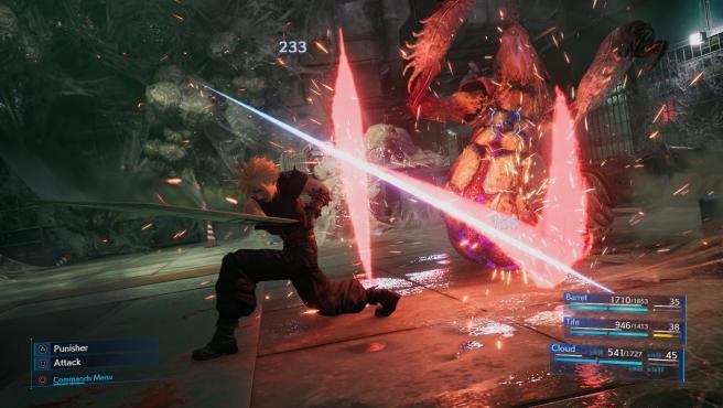 Sistema de combate de 'Final Fantasy VII Remake'.