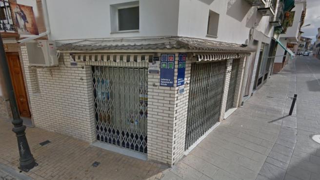 Imagen de la administración de Loterías número 1 de Herencia, en Ciudad Real.