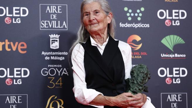 Benedicta Sánchez en los Goya.