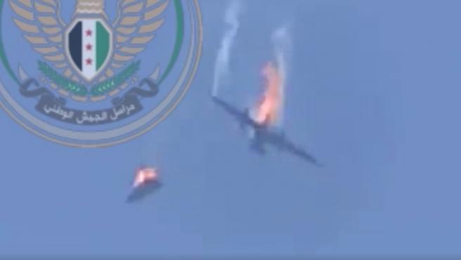 Los dos aviones del ejército sirio derribados.