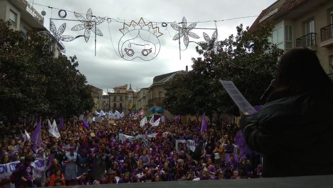 Manifestación feminista en Verín organizada por Galegas 8M este domingo, 1 de marzo de 2020
