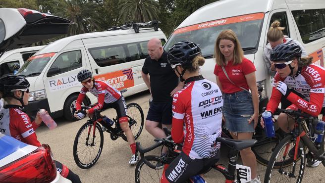 Las integrantes del equipo ciclista investigado.