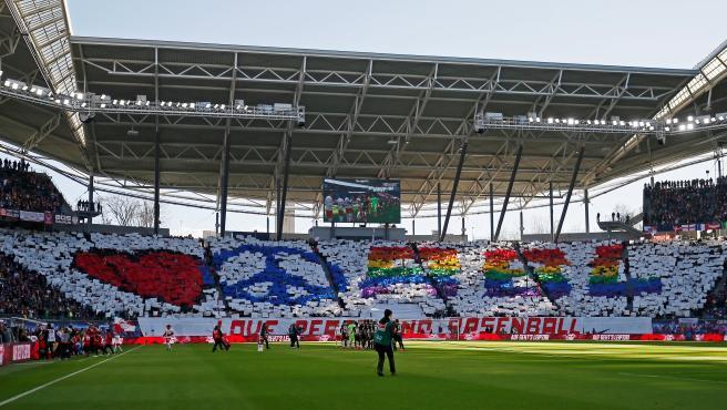 El Red Bull Arena, antes del partido entre el Leipzig y el Bayer Leverkusen.