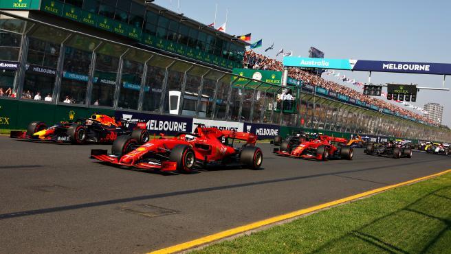 Salida del GP de Australia de 2019.