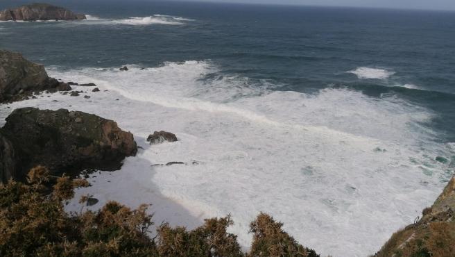Cabo Peñas, Gozón, mar, oleaje.