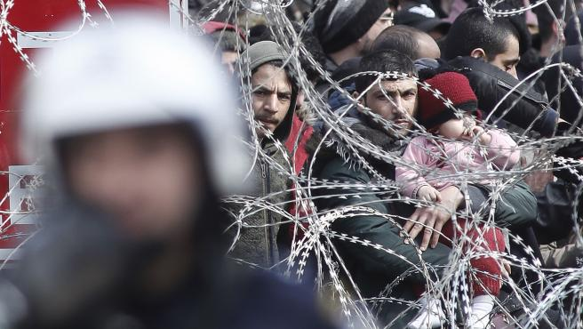 Crisis de refugiados en la frontera grecoturca.