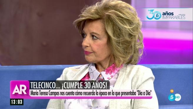 María Teresa Campos visita 'El programa de Ana Rosa'.