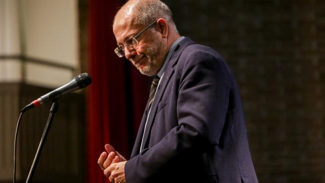 El vicepresidente de la Junta de Castilla y León,Francisco Igea, en el acto de presentación de su candidatura a la Presidencia de Ciudadanos.