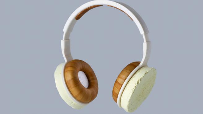 Estos son los primeros auriculares hechos con microbios del mundo.