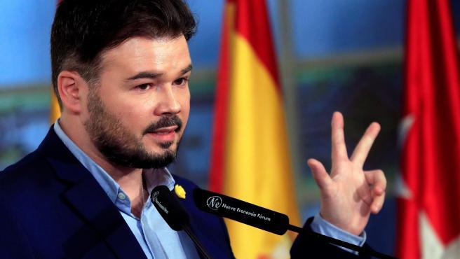 El portavoz parlamentario de ERC, Gabriel Rufián.