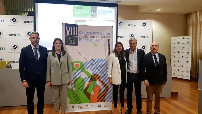 Presentación del Congreso de Actividad Física Deportiva para Mayores que se celebra en la UMA con colaboración de otras instituciones
