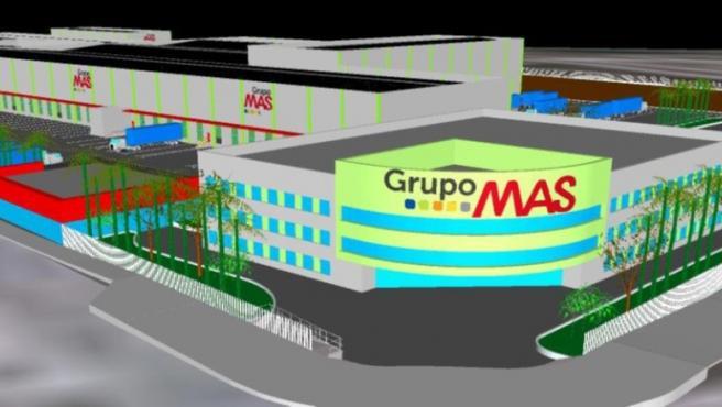 Recreación de la nueva plataforma logística de MAS