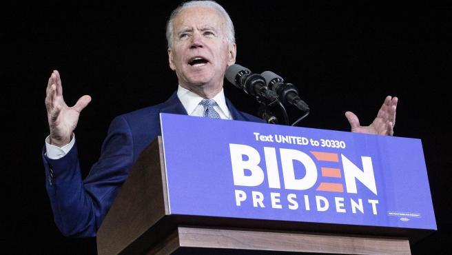 Joe Biden en el supermartes.