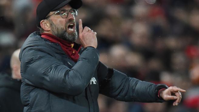 Jurgen Klopp, durante un partido del Liverpool.
