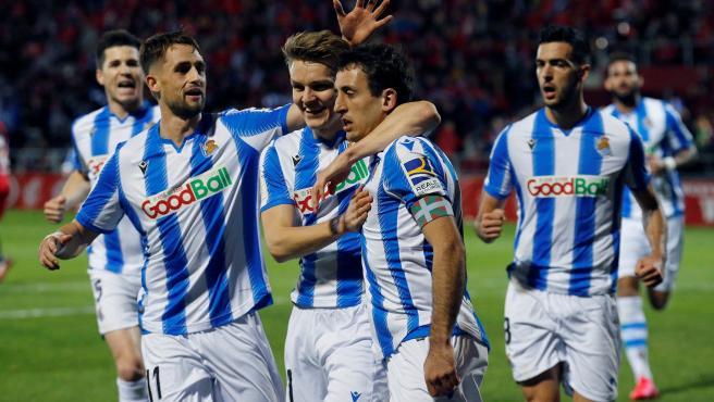 La Real Sociedad, primera finalista de Copa