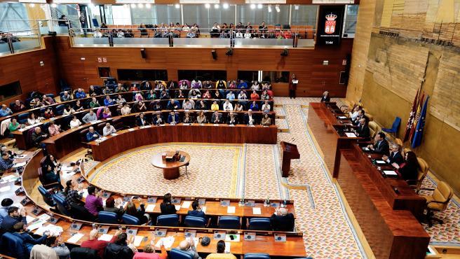 Imagen de recurso de una sesión plenaria en la Asamblea de Madrid.