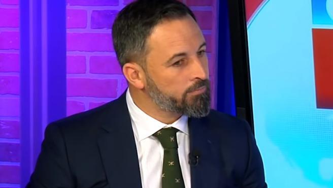 El líder de Vox, Santiago Abascal, durante una entrevista en el canal NTN24.