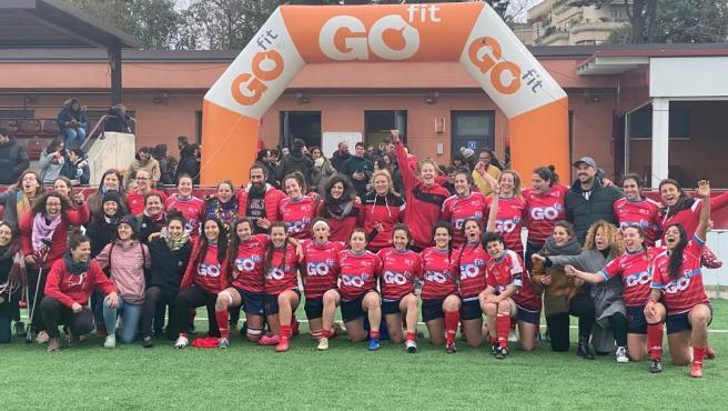 Las jugadoras del Sanse Scrum Rugby de la Liga Iberdrola.