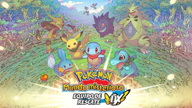 Portada de 'Pokémon mundo misterioso: equipo de rescate DX'.