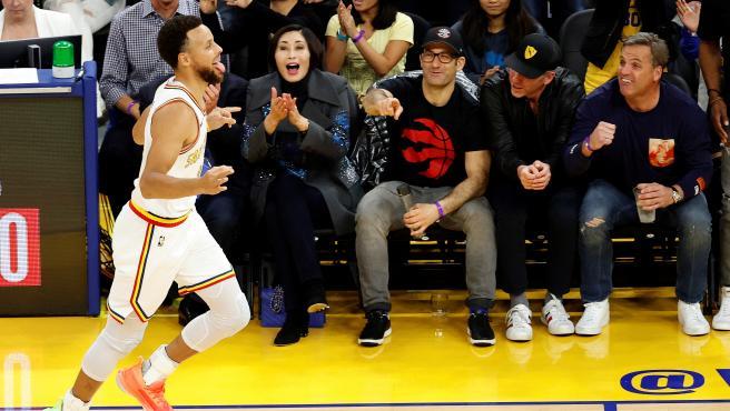 Stephen Curry, durante el Toronto Raptors - Golden State Warriors.