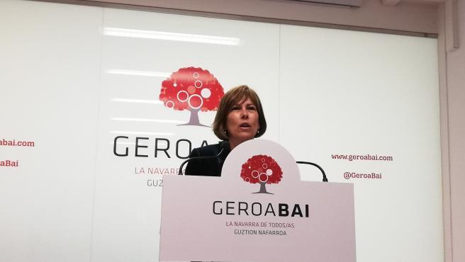Uxue Barkos, portavoz de Geroa Bai en el Parlamento de Navarra