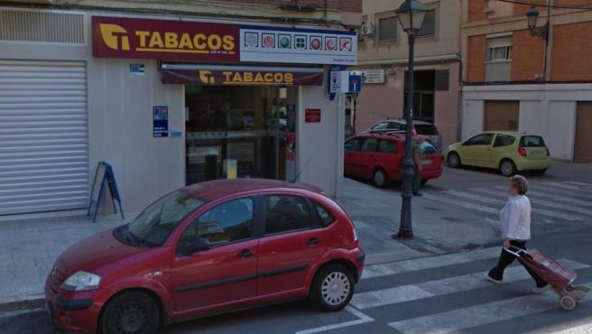 Imagen de la administración de Loterías de la calle Arzobispo Olaechea de Valencia.