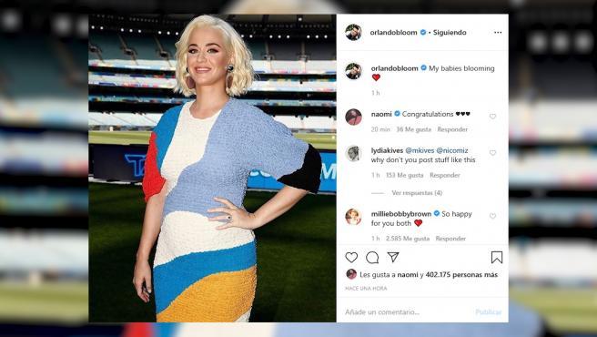 Katy Perry luce tripita de embarazada en Australia