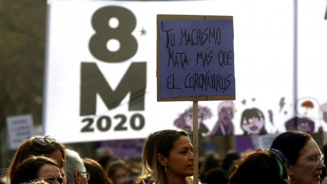 Barcelona: Imagen por el Día Internacional de la Mujer 2020