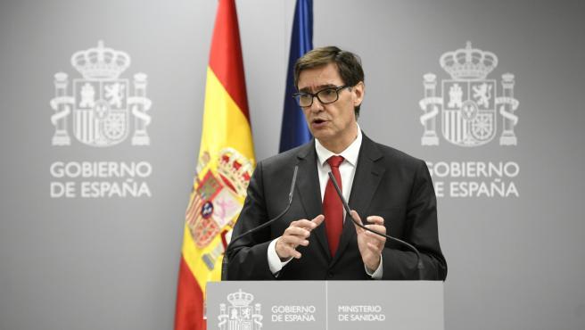 El ministro de Sanidad, Salvador Illa, ofrece una rueda de prensa para informar sobre la situación del Coronavirus en España tras confirmarse 3 muertes y 245 casos, en el Ministerio de Sanidad, en Madrid (España) a 05 de marzo de 2020.