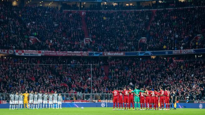 Partido de fútbol de la Champions League en Alemania.