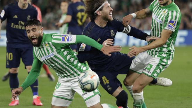 Sergio Ramos, durante el partido del Real Madrid contra el Betis.