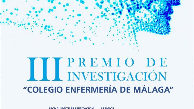 Cartel del premio de Investigación Colegio Enfermería de Málaga