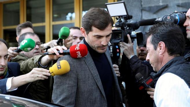 La visita de Iker Casillas al CSD levantó mucha expectación.