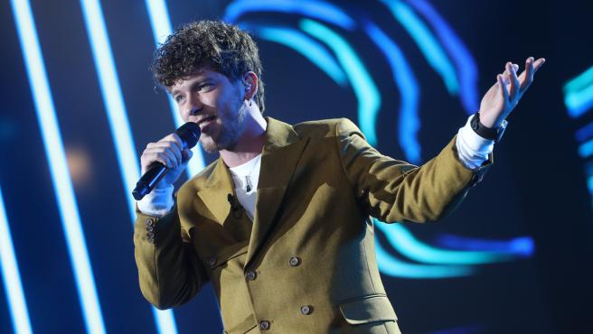 Jesús Rendón durante su actuación en 'OT 2020'.