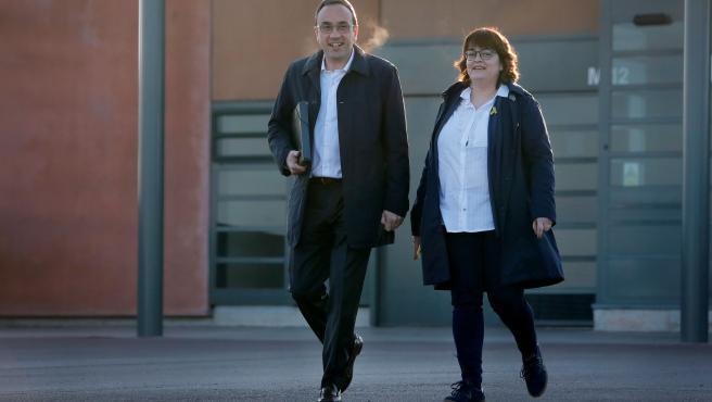 Josep Rull sale de la prisión de Lledoners.