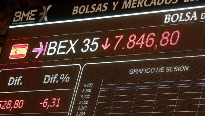 La Bolsa española se hunde el 6,15% con el precio del crudo en caída libre.