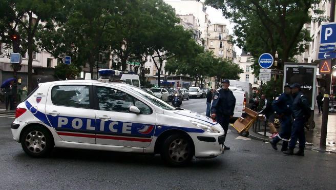 Agentes policiales en París, Francia, en una imagen de archivo.