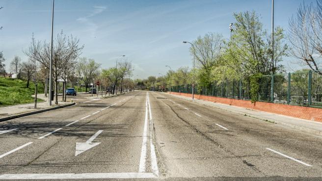 La carretera de Pozuelo-Aravaca, vacía este 11 de marzo.