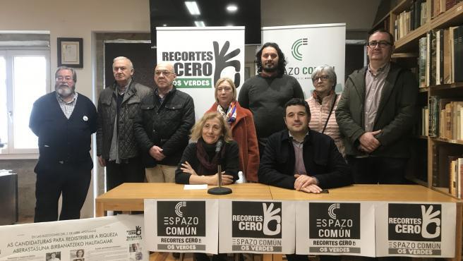 Presentación de la coalición Recortes Cero, Espazo Común, Os Verdes en Santiago de Compostela