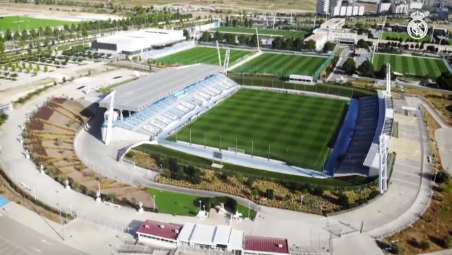Visa aérea de la ciudad deportiva del Real Madrid.
