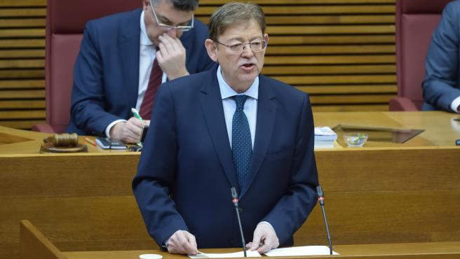 El president de la Generalitat Valenciana, Ximo Puig, compareix en Els Corts a petició pròpia per la crisi del coronavirus.
